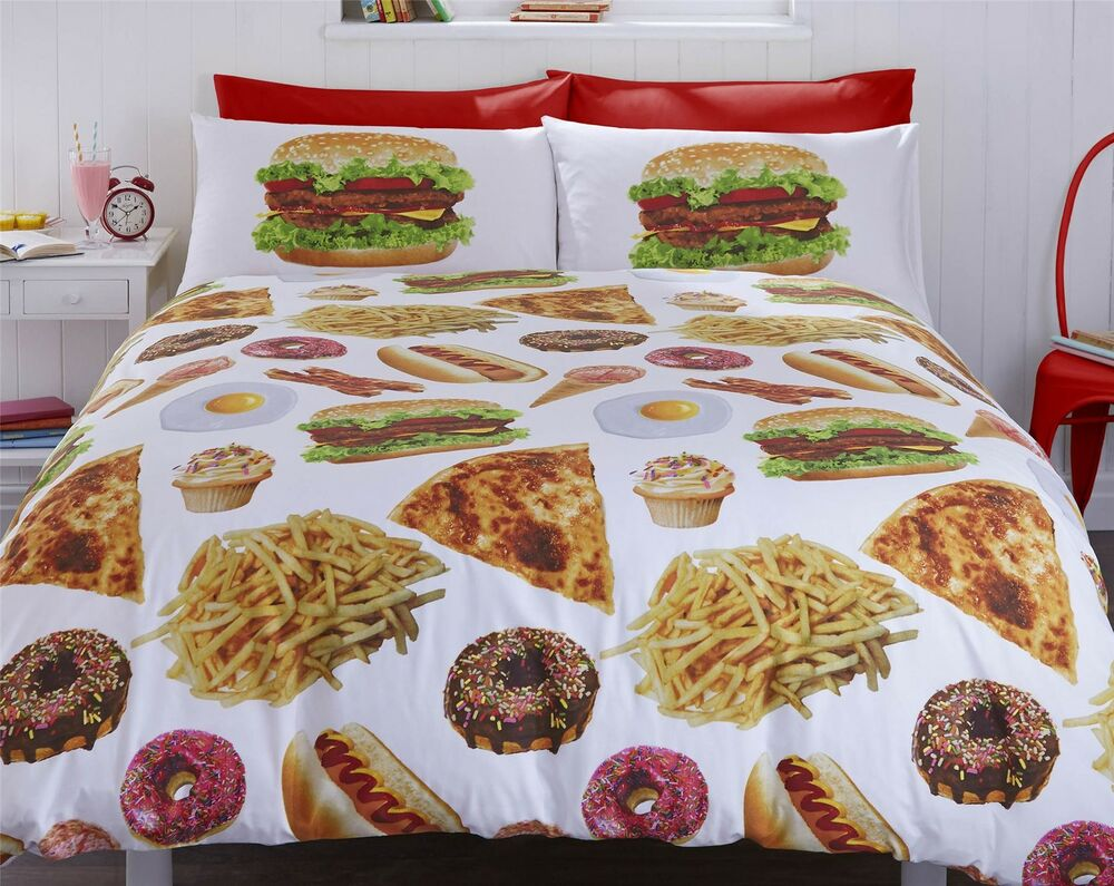 Bedding Munchies Fast Food 230 X 220cm King Size