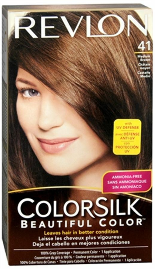 Revlon ColorSilk Hair Color 41 Medium Brown 1 Each  EBay