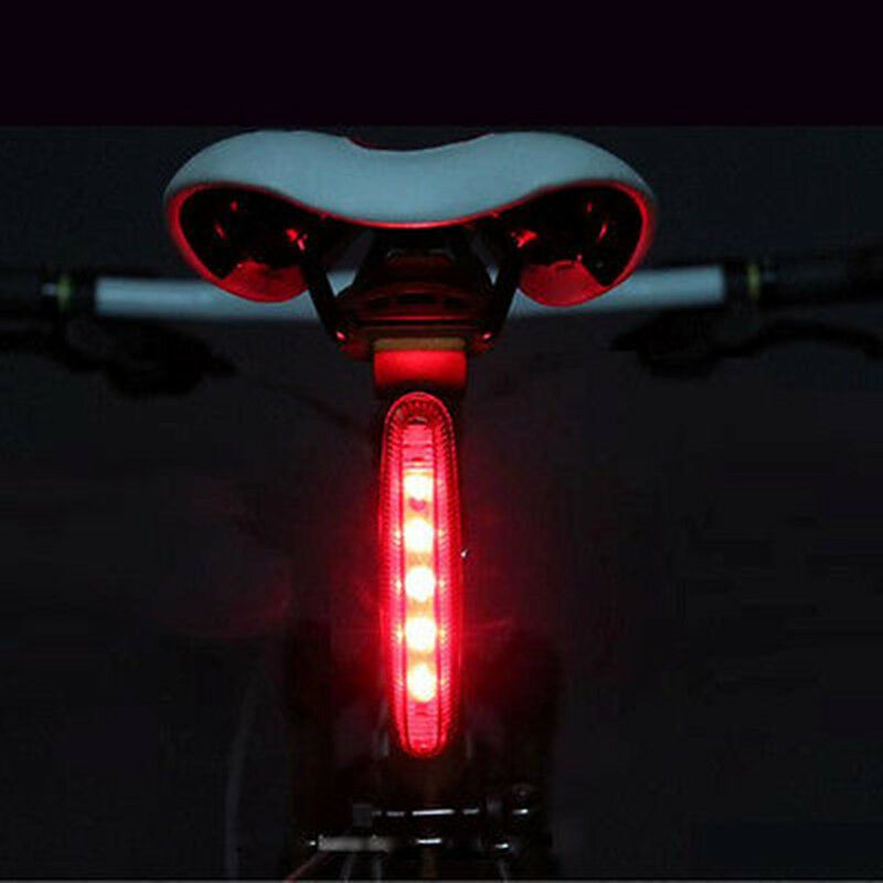 Cycling Night Super Bright Red 5 Led Rear Tail Light Bike