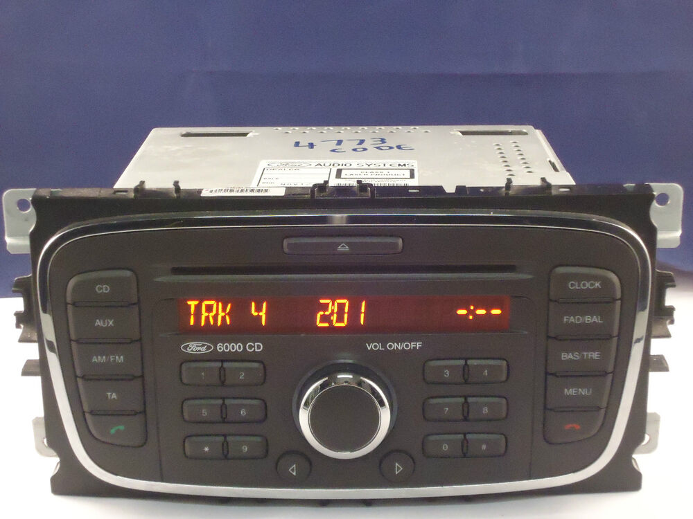 ford 6000 cd radio player code focus mondeo galaxy smax. Black Bedroom Furniture Sets. Home Design Ideas