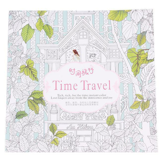 New Time Travel Coloring Books For Adult Relaxation