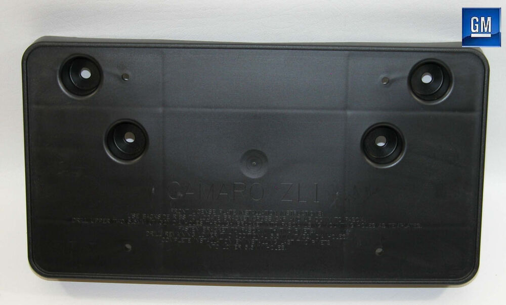 12 15 Chevy Camaro Zl1 Front License Plate Mounting