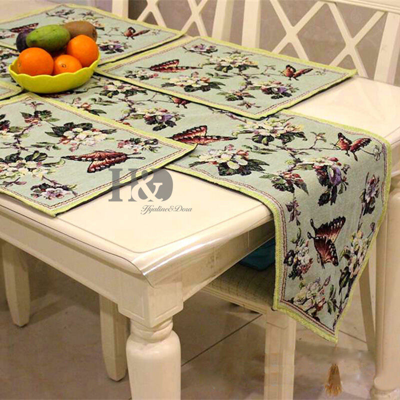 13 1 72 inch butterfly flowers vintage table runner home for Home decor 72