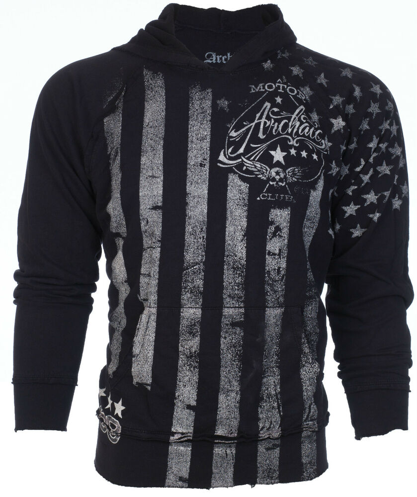 Archaic affliction mens hoodie sweat shirt jacket nation for How to not sweat through shirts