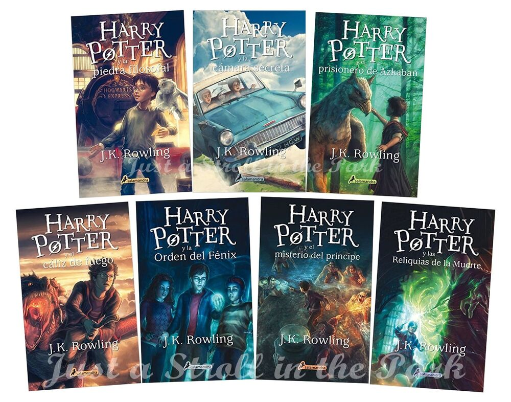 Harry Potter Book Cover Versions : Harry potter complete collection spanish edition books