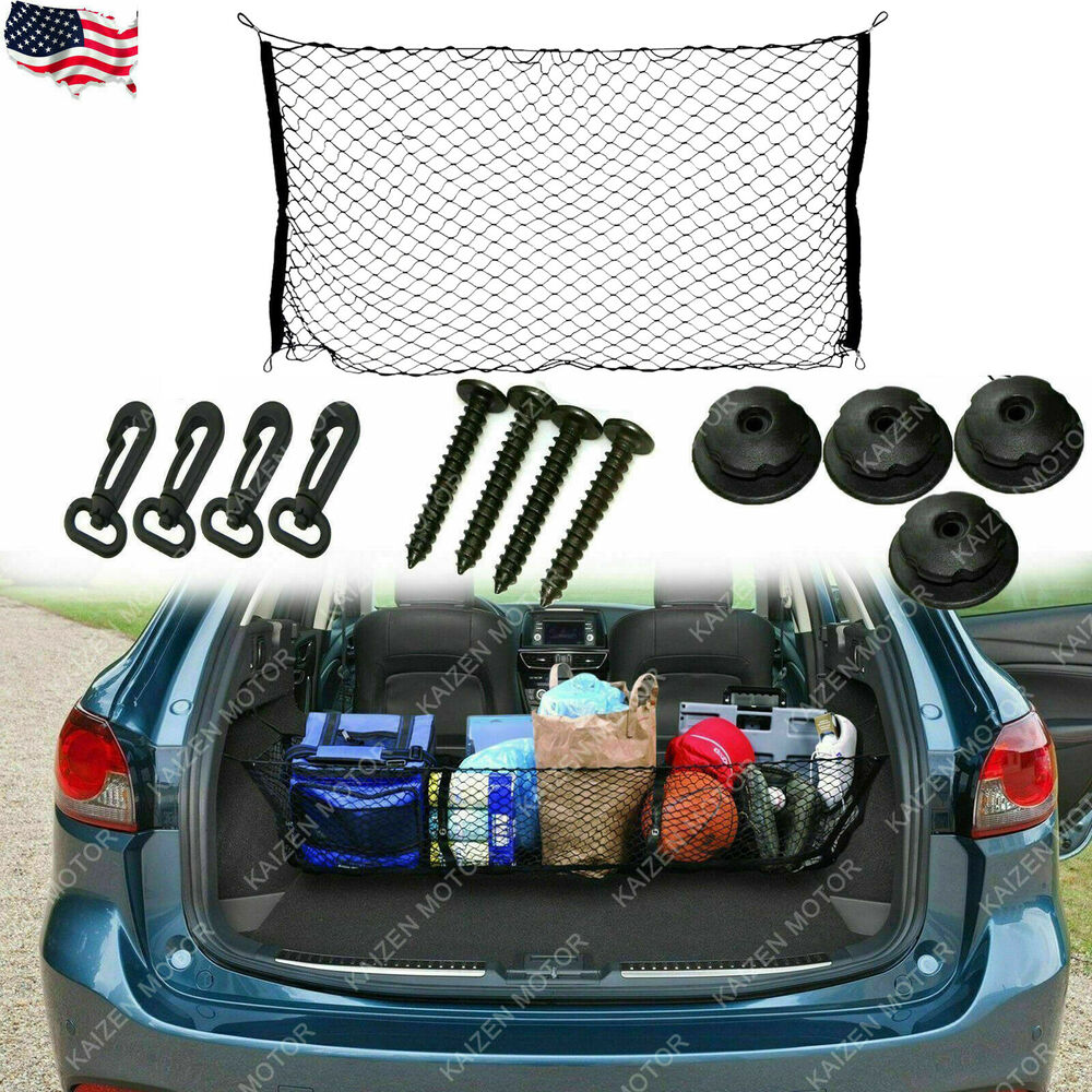 Details about nylon mesh net car trunk cargo storage plus envelope style for ford mustang