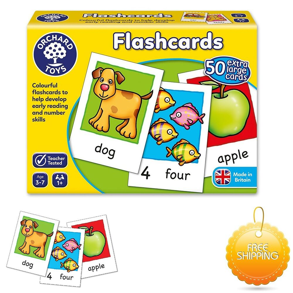 Educational Toys And Games : Orchard toys educational flash cards new game baby toddler