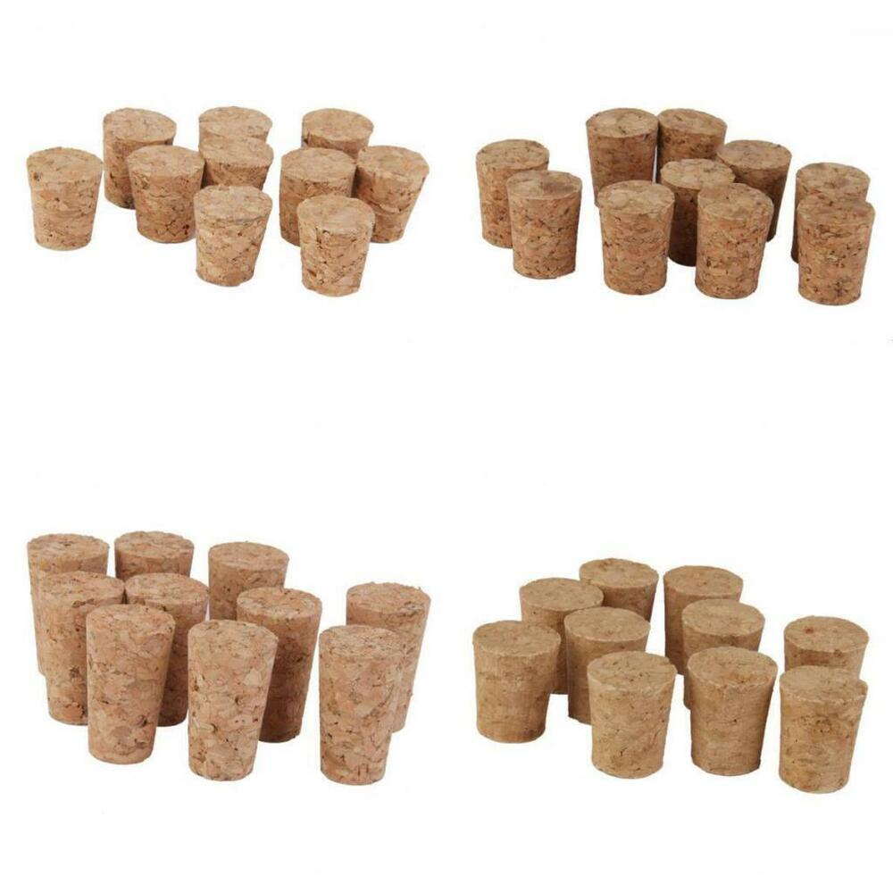 Cork Crafts For Weddings: 10 Tapered Wine Corks Stopper DIY Wedding Craft Hobby Art