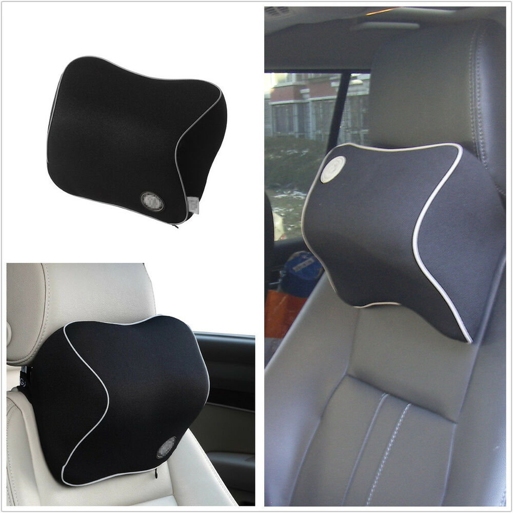 car seat headrest pad memory foam travel pillow head neck rest support cushion ebay. Black Bedroom Furniture Sets. Home Design Ideas