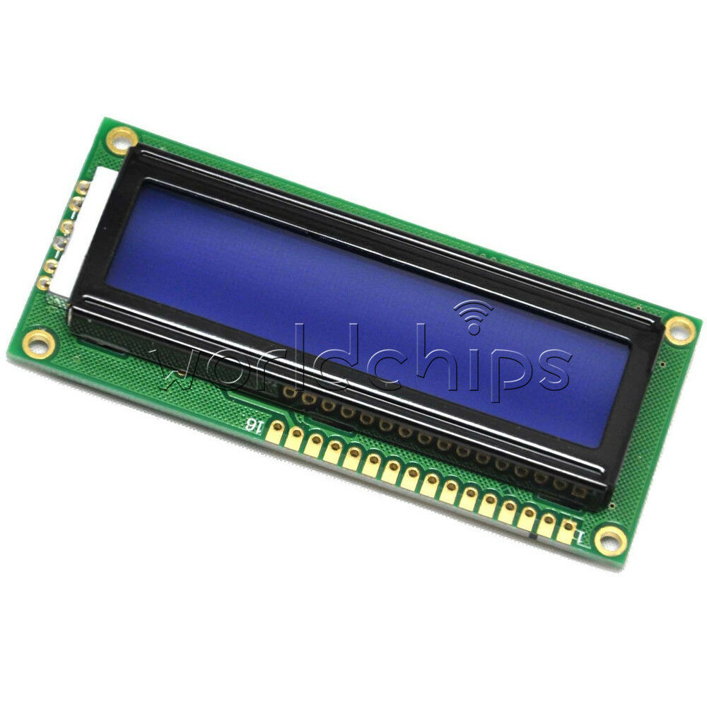 Blue blacklight character lcd display module for