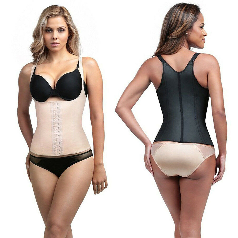 399323e811f Diva Fit by Squeem 62CV Semivest Adj Strap Waist Trainer Latex Girdle  DivaFit