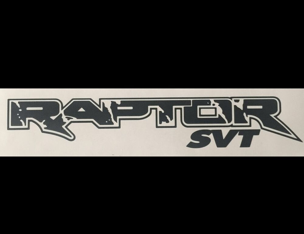 "FORD RAPTOR 2X 22"" TRUCK LETTERING VINYL DECAL STICKER ..."
