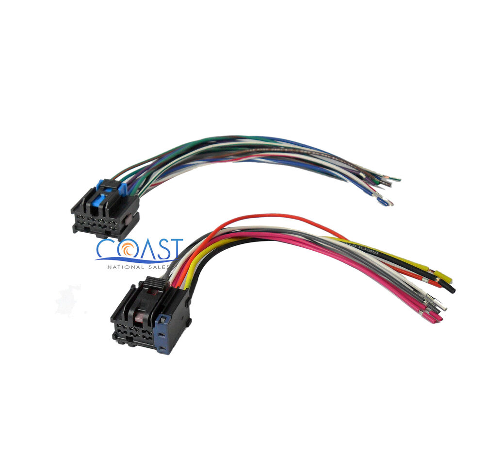 car stereo wiring harness to factory radio for 2005 2010 chevy pontiac saturn ebay stereo wiring harness adapter stereo wiring harness illumination/dimmer