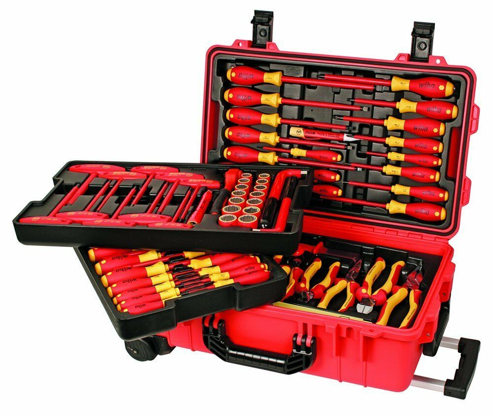 wiha 32800 insulated tool set with screwdrivers cutters pliers and sockets ebay. Black Bedroom Furniture Sets. Home Design Ideas