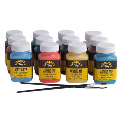 Fiebing 39 s acrylic dye pack quick drying water resistant for Fast drying paint for crafts