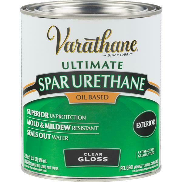 1 qt varathane clear gloss exterior wood siding deck door spar urethane 9241h ebay for Exterior polyurethane for decks