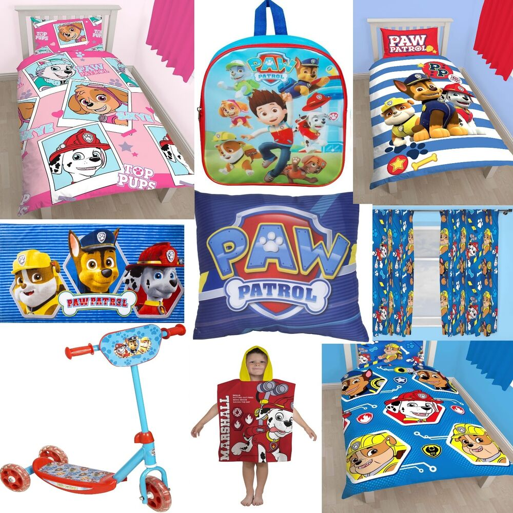 Paw Patrol Accessories Choose One Or More Bedding