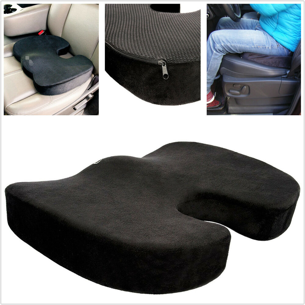 car truck comfort support space 100 memory foam seat cushion thicken travelling ebay. Black Bedroom Furniture Sets. Home Design Ideas