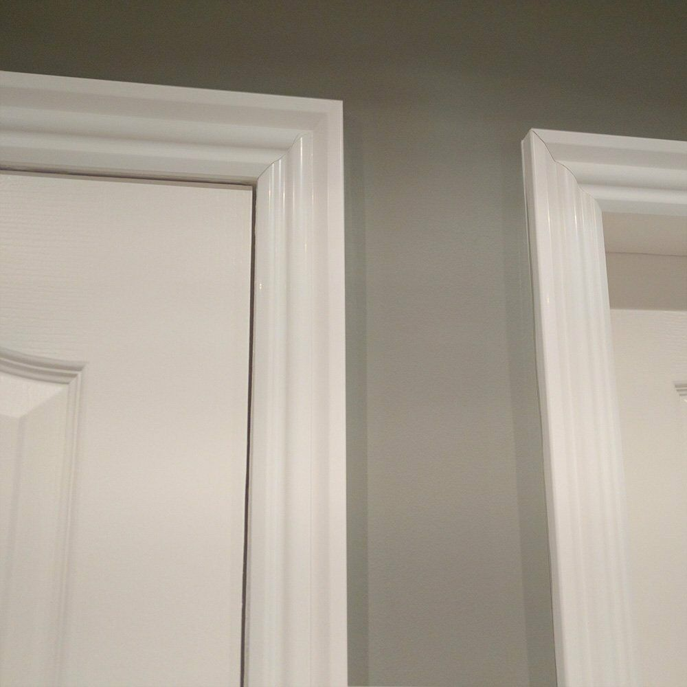 Gloss white architrave door kit three lengths from mb for Door architrave