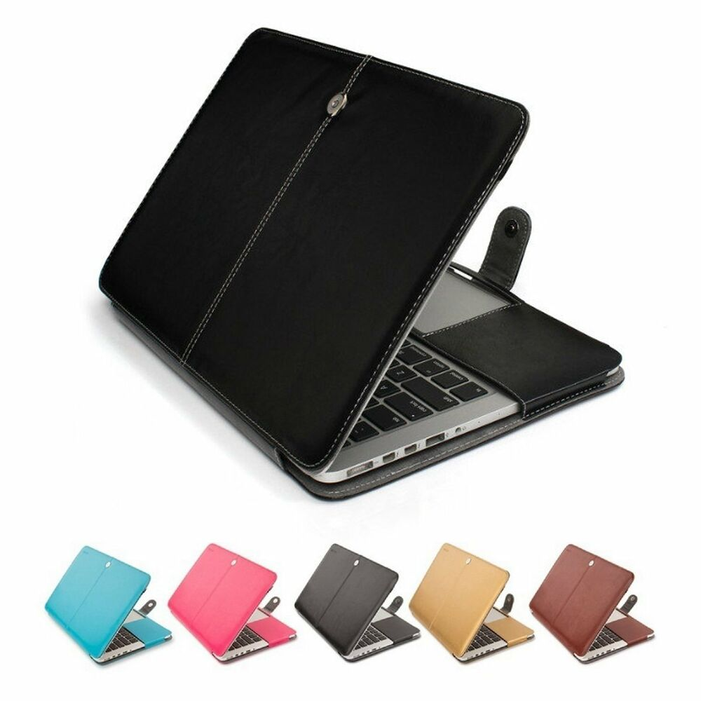 leather laptop sleeve bag case cover for macbook air pro retina 11 12 13 15 ebay. Black Bedroom Furniture Sets. Home Design Ideas
