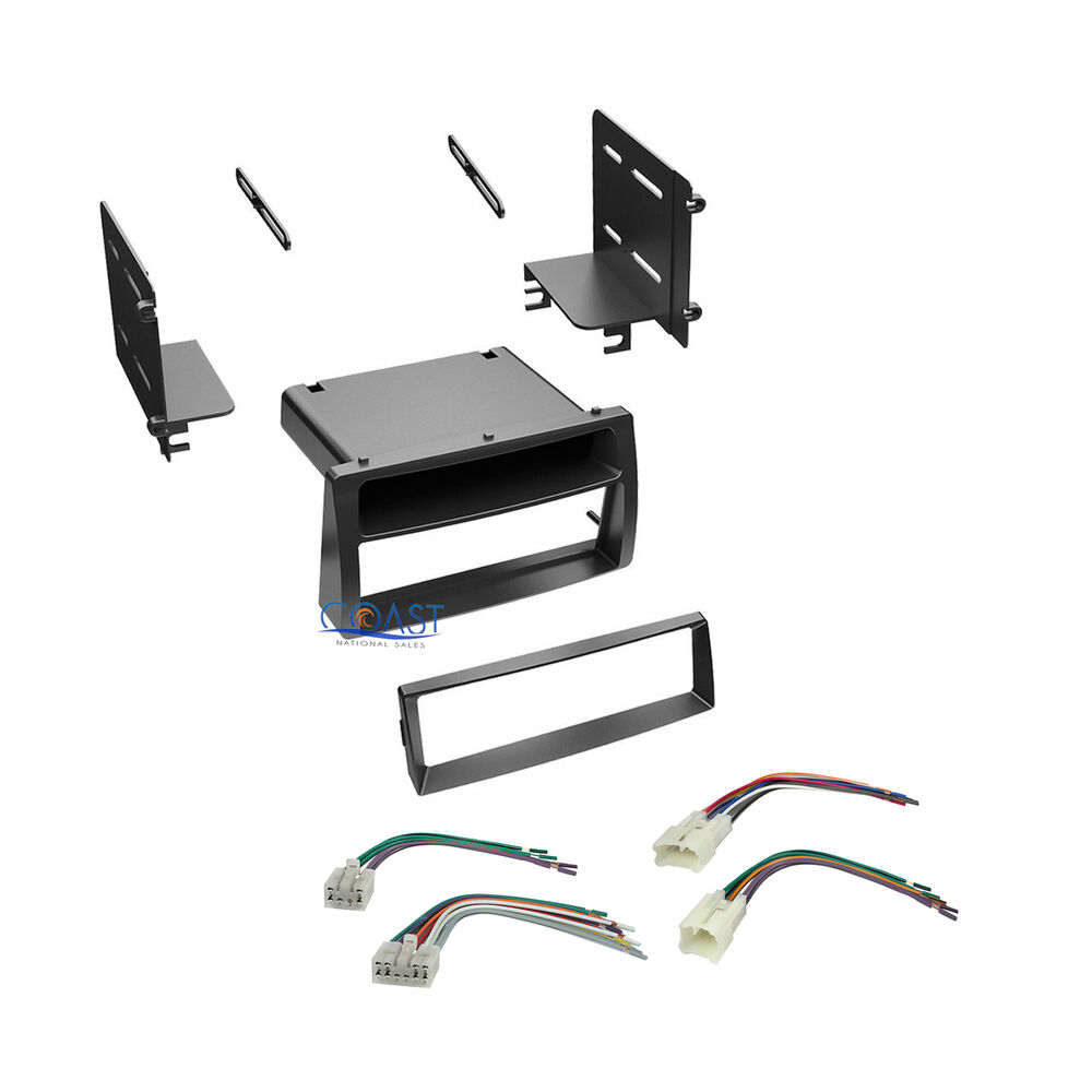 Car stereo single din dash kit wiring harness for