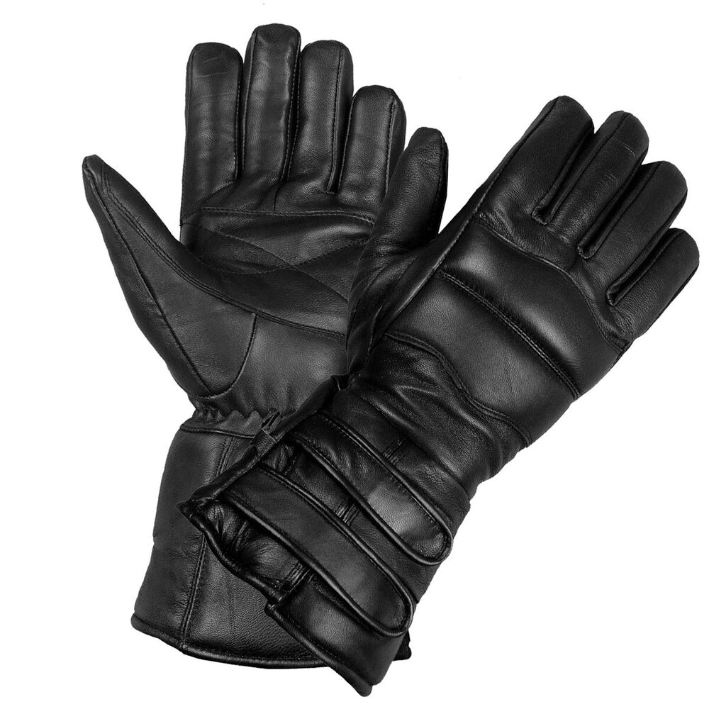 New Mens Thinsulate Sheep Leather Winter Motorcycle Biker ...
