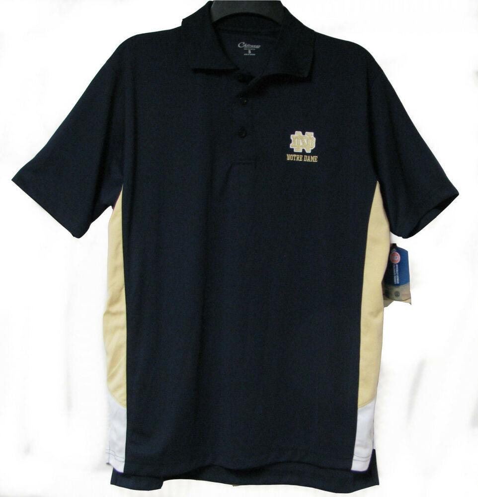 Official notre dame fighting irish chiliwear navy polo for Notre dame golf shirts