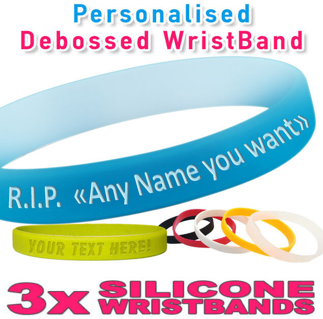make your own silicone bracelet rip personalised wristband silicone debossed create 6764