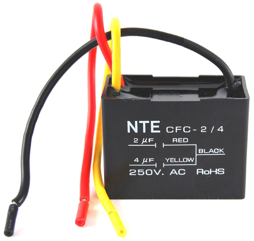 Nte Electronics Cfc 2 4 Capacitor Ceiling Fan 2 4 Ufd