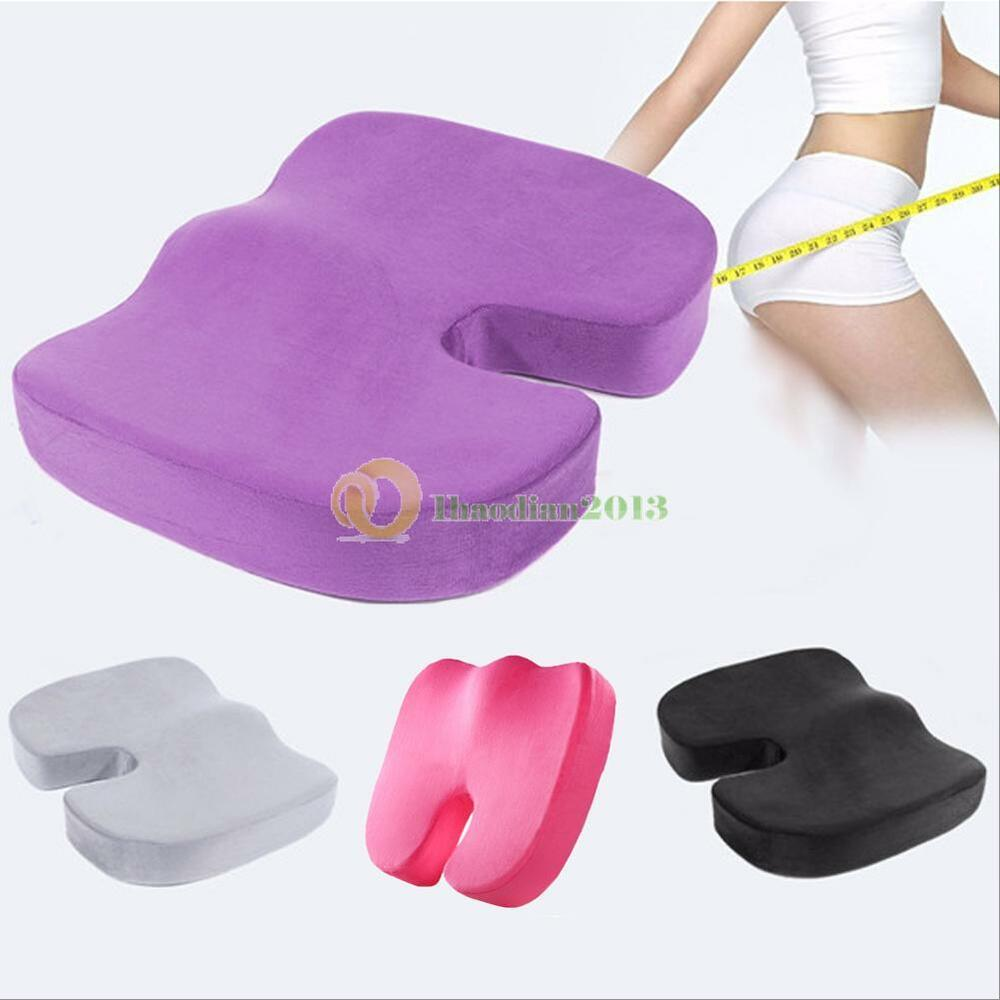 Memory Foam Seat Cushion Office Chair Car Seat Back Relief Orthopedic Pain Ho