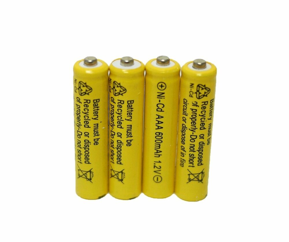10 pcs rechargeable nicd aaa 600mah ni cad batteries for. Black Bedroom Furniture Sets. Home Design Ideas