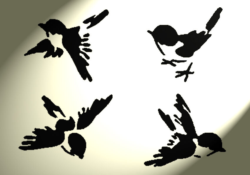 Swallow Stencil For Wall Wall Designs