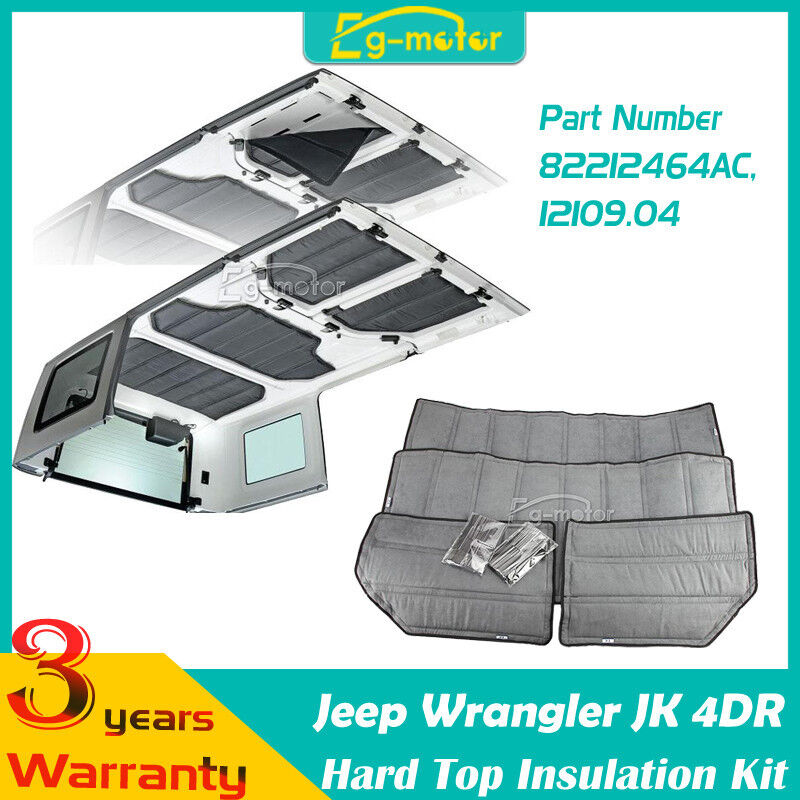 4pcs hard top insulation kit for jeep wrangler jk 4door for Front door insulation kit