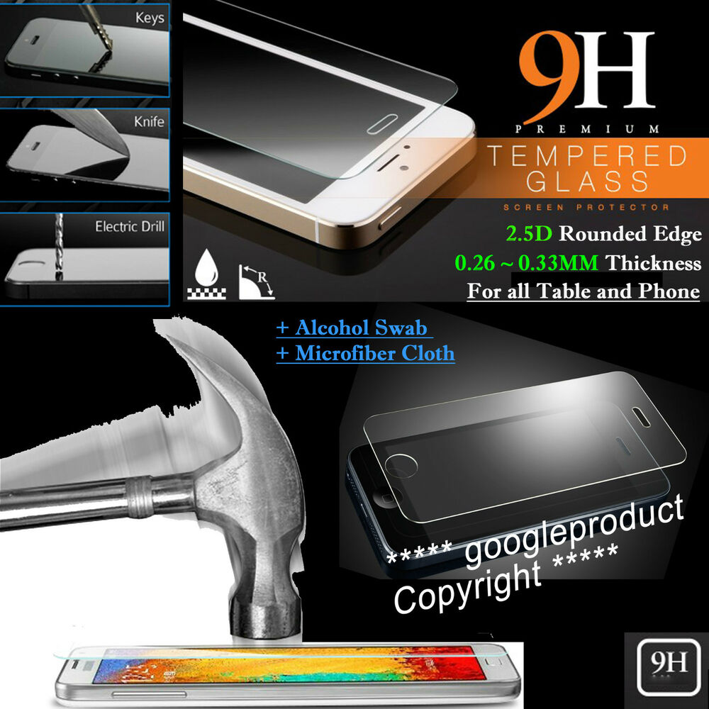 7fa196508fb511 Details about 101% Real HD Tempered Glass Film Screen Protector For cover  case Table Phone AUS