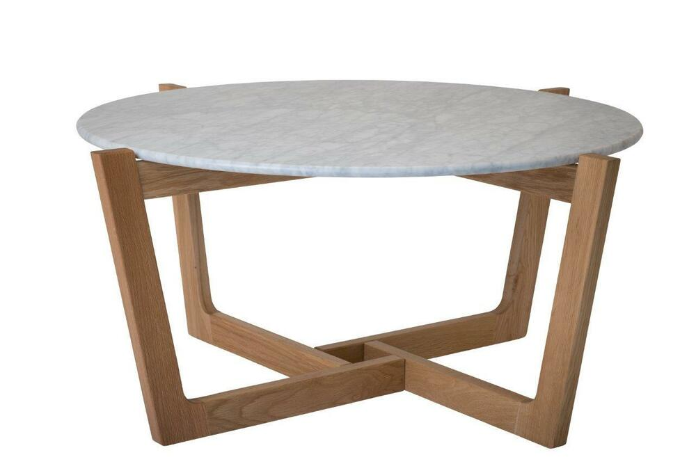 Sofia Coffee Table Natural Oak Marble Top Round Coffee Table Ebay