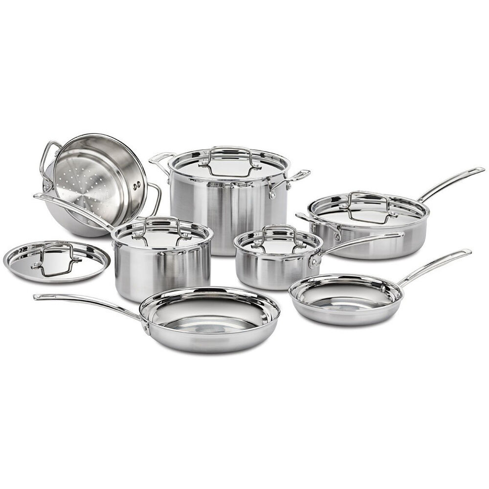 Cuisinart Multiclad Pro Tri Ply 12 Pc Stainless Cookware