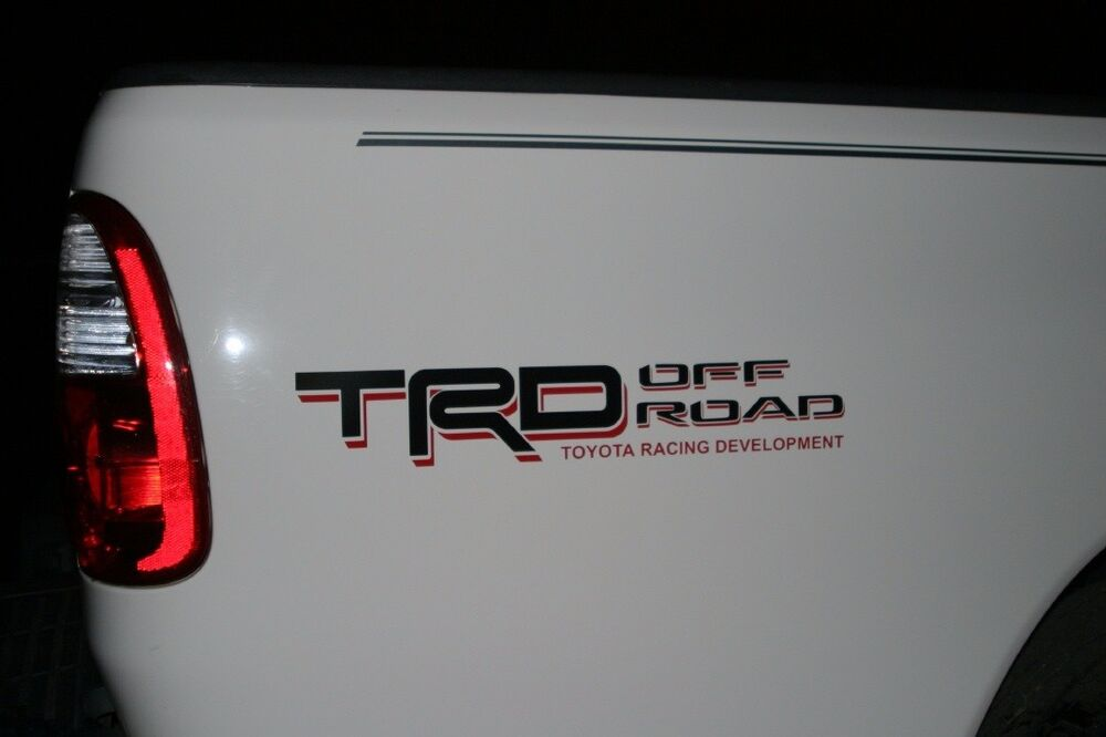 Toyota Tundra Trd Off Road Bedside Decal Black Red Pt211