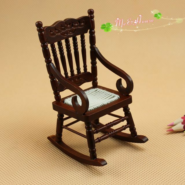 ... dollshouse traditional old fashion wooden rocking chair  eBay