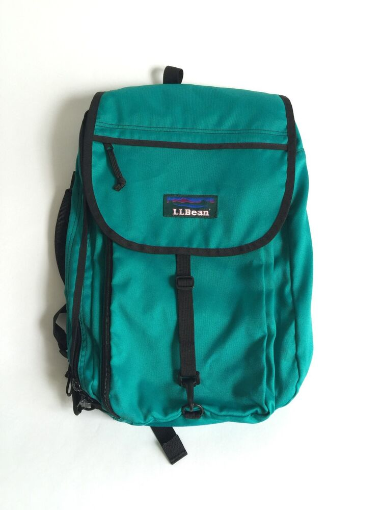 Vintage 90s L.L Bean Multi Pocket Backpack Briefcase Camp ...