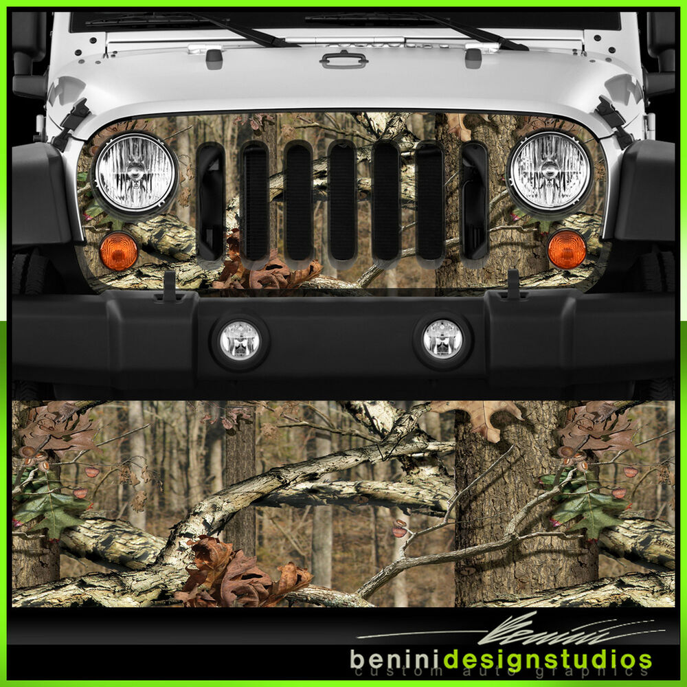 Jeep Wrangler Grill Vinyl Wrap Skin Decal Real Tree Camo