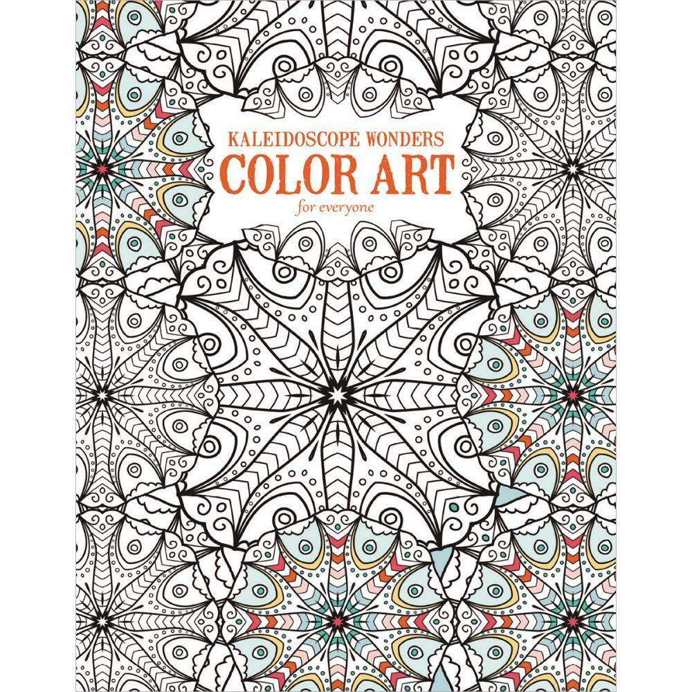 Adult coloring book leisure arts kaleidoscope wonders Coloring book for adults walmart