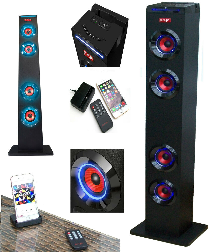 iphone docking station with speakers torre xl bluetooth speaker station tower with dock station 17638