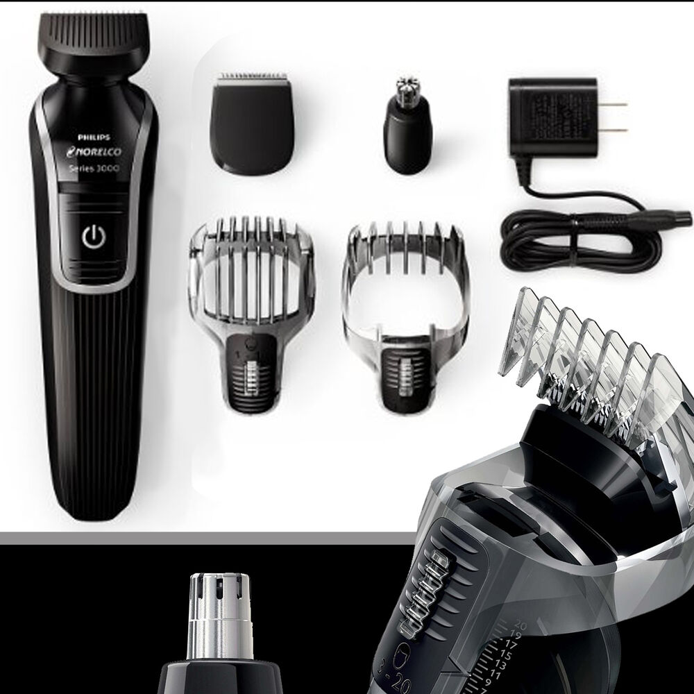philips norelco multigroom grooming beard shave ear trimmer kit rechargeable ebay. Black Bedroom Furniture Sets. Home Design Ideas