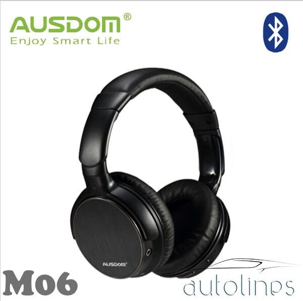 ausdom m06 bluetooth 3 0 wire wireless headset stereo headphones over ear mic ebay. Black Bedroom Furniture Sets. Home Design Ideas