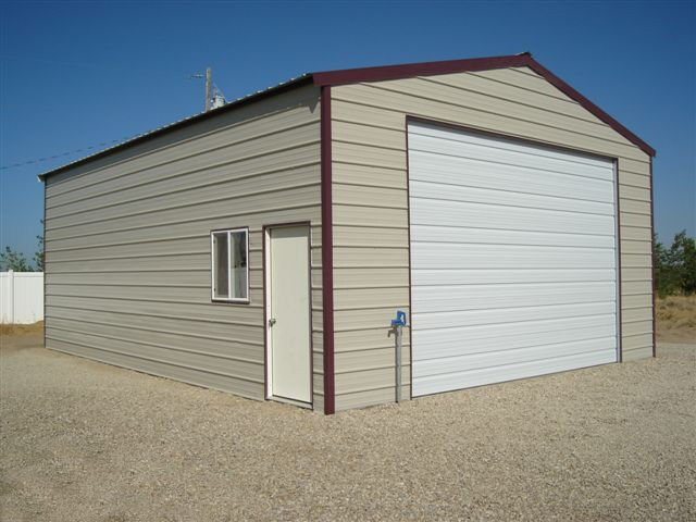 Steel Frame Building Kits : Metal garage storage building steel shed kit diy
