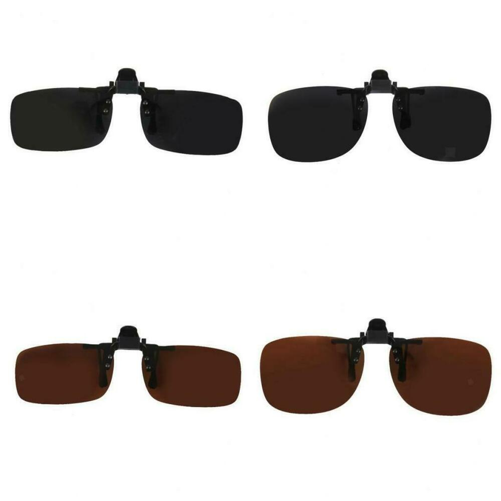 Eyeglass Frames Easy Clip : Polarized Lens Easy Clip on Flip-up Sunglasses Glasses ...
