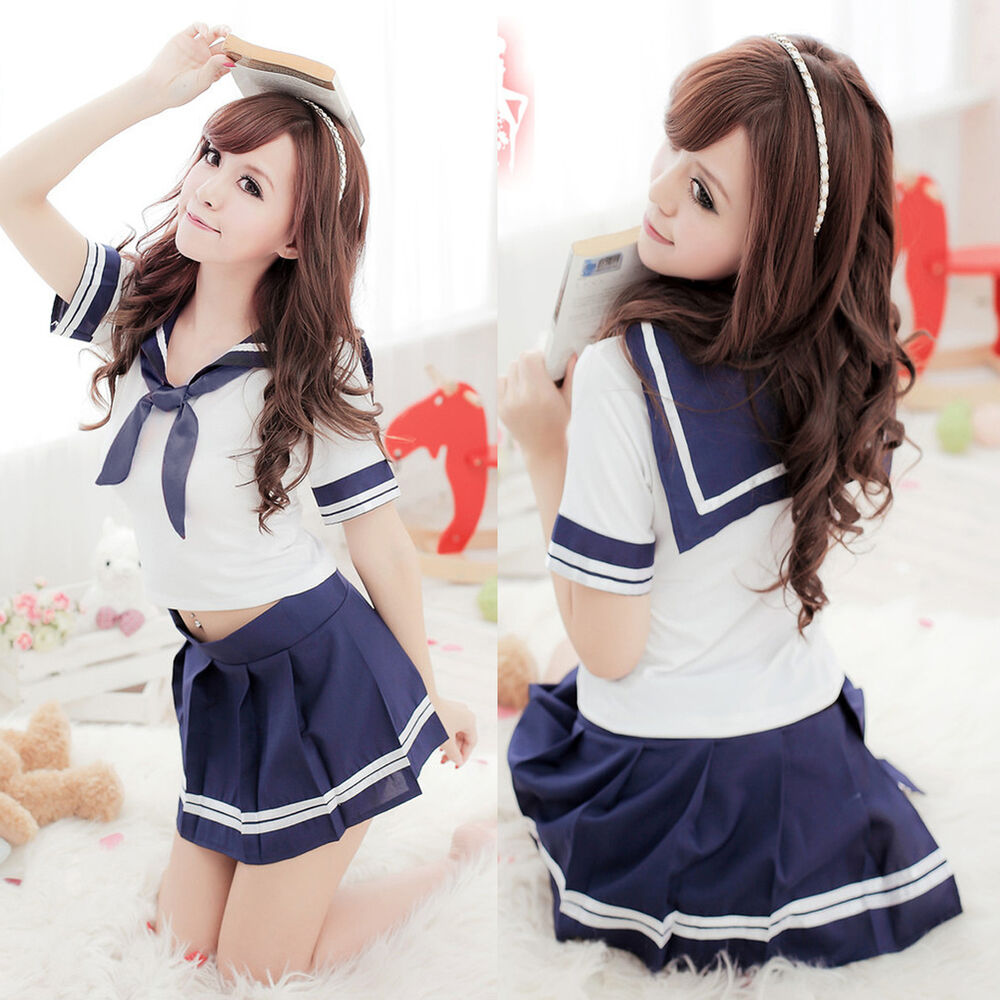 Fashion Cosplay Japanese School Girl Students Sailor Uniform Sexy Anime Costume  Ebay-2089