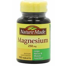 Nature Made Magnesium 250 mg Tablets 100 Tablets