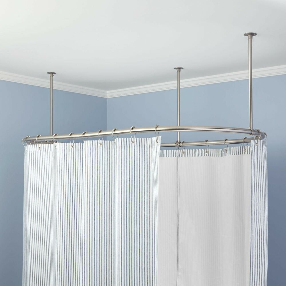 naiture brass oval shower curtain rod in 8 sizes and 4finishes ebay. Black Bedroom Furniture Sets. Home Design Ideas