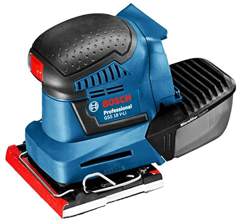bosch professional cordless orbital palm sander bare tool body only gss 18v li ebay. Black Bedroom Furniture Sets. Home Design Ideas